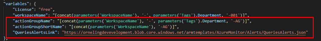 Azure ARM Template - Variables