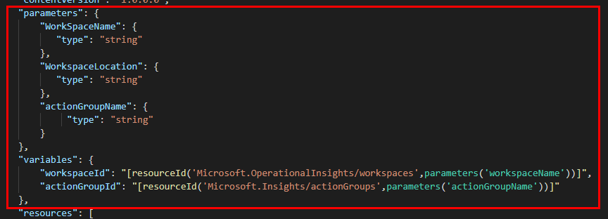 Azure ARM Template - Parameters
